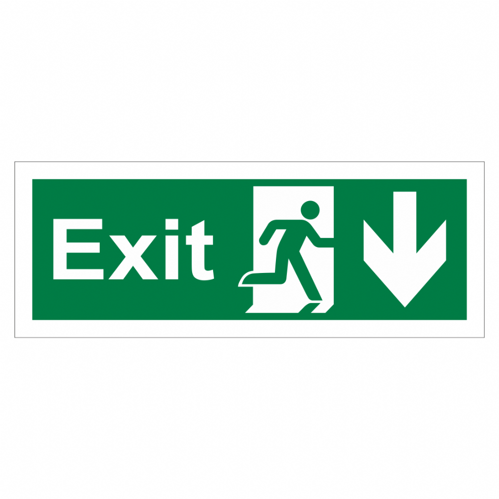 Exit Arrow Down Sign